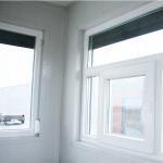 Kontajnerová vrátnica detial okná z vnútra